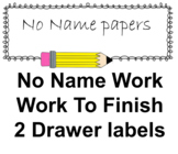 No name work label