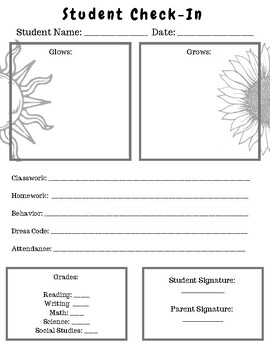 No-nonsense Parent Teacher Conference Form- Grows and Glows FREE