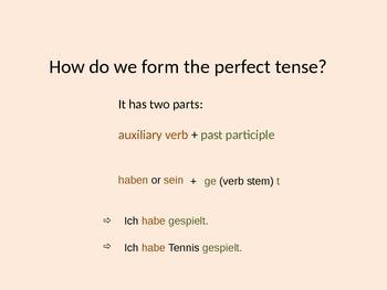 No-nonsense recap of perfect tense in German