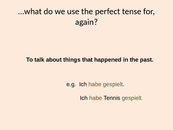 No-nonsense recap of perfect tense in German