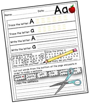 No Prep ABC Worksheets