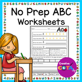No Prep ABC Worksheets