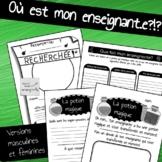 No prep - Activités de suppléance French Français printables Feuilles