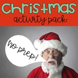 No prep Christmas Activity Packet
