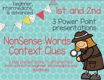 No prep - No copies - Nonsense words for Context Clues Power Point