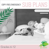 Paperless, No Copy No Print Emergency Sub Plans:Middle & H