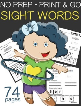 No prep {Print & Go} Sight Words HF Writing Practice