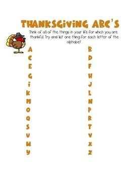 No-prep Thanksgiving Activities