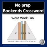 No prep Word Work Crossword #1