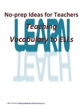 No Prep Ideas for Teaching Vocabulary