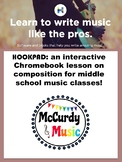Distance Learning Internet composition project - Middle School Music