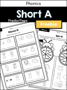 No-prep practice: Short A (freebie)