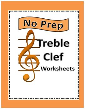 No Prep Treble Clef worksheets