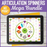 Digital Speech Articulation Spinners Bundle for Teletherapy or iPad
