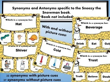 No print Sneezy the Snowman Book Companion Synonyms and Antonyms Edition