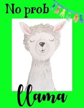 No prob llama poster FREEBIE