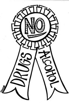 No to Drugs Ribbon