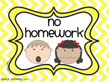 No/Incomplete Homework Turned In Binder