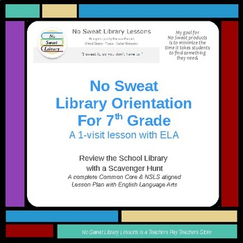 NoSweat Library Orientation for 7th grade