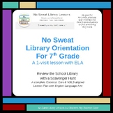 NoSweat Library Orientation with 7th grade ELA classes