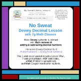 NoSweat Library Lesson: Dewey Decimals with 7th Grade Math