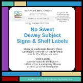 NoSweat Dewey Subject Signs and Shelf Labels
