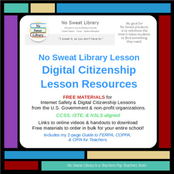 NoSweat Digital Citizenship Lesson Planner