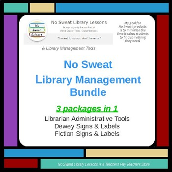 NoSweat Library Management Bundle - Documents & Signage