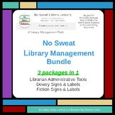 NoSweat Library Management: Documents & Signage Bundle