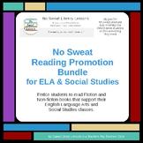 NoSweat Library Reading Promotion Bundle for ELA & Social Studies