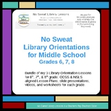 NoSweat Library Orientations for Middle School - Grades 6,7,8