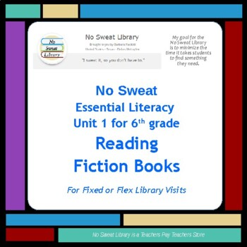 NoSweat 6th grade Narrative Text Unit for Readers/Writers Workshop
