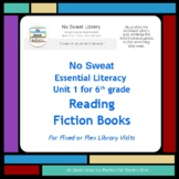 NoSweat Library Lessons: Narrative Literature Unit with 6g ELA