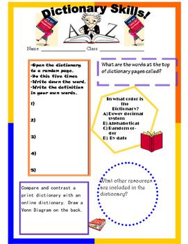 Noah Webster's Dictionary Skills!