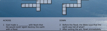 Noah and the Ark Crossword Puzzle