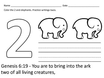 Christian Education: Noah and the Ark Mini Unit