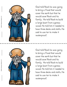 Noah's Ark Reader and Write the Room