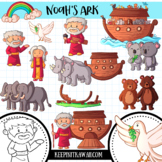 Noah's Ark Bible Story Clip Art Collection