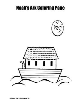 Noah\'s Ark Coloring Page by Lesson Machine | Teachers Pay Teachers
