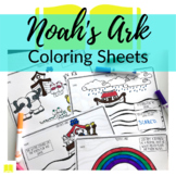 Noah's Ark Coloring Sheets for Sunday School or Homeschool
