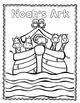 Noah's Ark Coloring and Handwriting Practice Printable