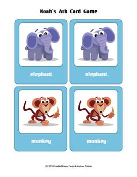 Noah's Ark Matching Card Game - Sunday School Bible Studies Activity