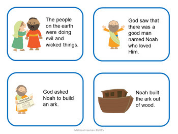 Noah's Ark Sequencing Cards