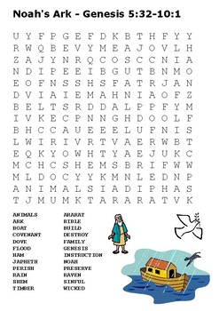 Noah's Ark Word Search