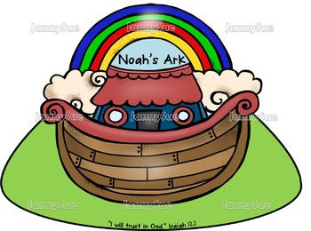 """Noah's Ark craft- """"I will trust God"""" Isaiah 12:2 Bible story craft for kids"""