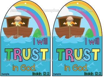 "Noah's Ark craft- ""I will trust in God"" Isaiah 12:2"