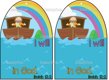"""Noah's Ark craft- """"I will trust in God"""" Isaiah 12:2- Bible craft for kids"""