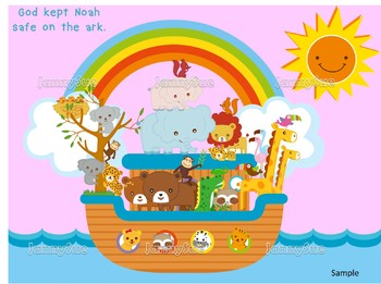 Noah S Ark Craft With Animals And Rainbow Bible Craft For Kids By
