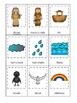 Noah's Ark themed 3 Part Matching printable game. Christian Curriculum.