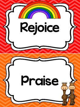 Noah's Ark themed Behavior Clip Chart. Preschool-Kindergarten Bible bulletin boa